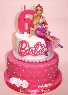 Barbie Cake Cakes And Cupcakes For Kids Birthday Party Pinterest