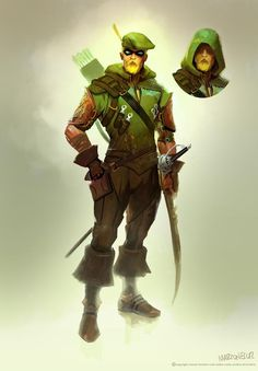 """Injustice: Gods Among Us - Green Arrow by Marco Nelor.  I love the game and LOVE this character design better than what is in the game.  But often I like the various designs more than the """"finished product.""""  Not to say it's bad, but this is VERY Oliver Queen."""