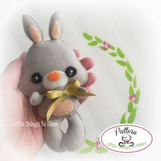 Spring the Bunny-PDF pattern-Easter Bunny-DIY-Nursery