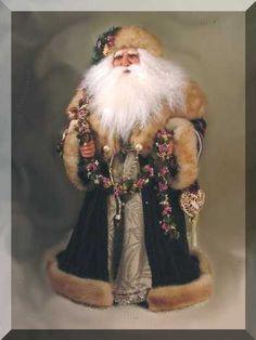Victorian Santa, by Jill Zaperach Father Christmas, Christmas Love, Christmas Pictures, Christmas Holidays, Christmas Mantles, Christmas Trees, Christmas Ornaments, Vintage Santa Claus, Vintage Santas