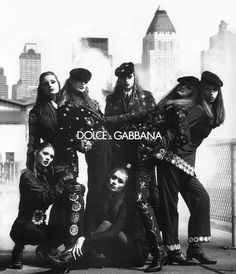 ANGELIKA KALLIO - KATE MOSS - NADJA AUERMANN - MEGHAN DOUGLAS - SUSAN HOLMES  Dolce & Gabbana Ad  1992  Photo: Steven Meisel