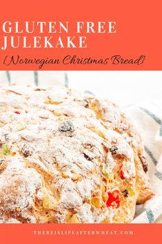christmas recipes gluten free Gluten Free Julekake is a beautiful Norwegian Christmas bread studded with raisins and candied fruits with a subtle hint of cardamom. This bread is light, fluffy, and SO easy to make! Gluten Free Christmas Recipes, Best Gluten Free Recipes, Gf Recipes, Gluten Free Baking, Gluten Free Desserts, Bread Recipes, Baking Recipes, Celiac Recipes, Supper Recipes
