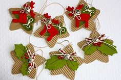 Stamp in Progress.: Varie ed eventuali. Christmas Gift Tags, Christmas Paper, Christmas Crafts For Kids, Christmas Projects, Holiday Crafts, Christmas Holidays, Christmas Decorations, Handmade Gift Tags, Xmas Ornaments