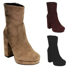1dd7077c9b Hayden Chunky Heel Fall Midi Boot from Cousin Couture. Chunky Heels, Shoe,  Thick