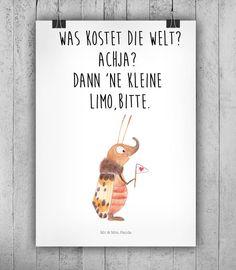"""Wanddeko - A2 Poster """"Was kostet die Welt"""" - ein Designerstück von small-world…"""