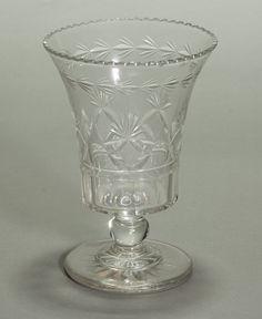 Cut glass celery holder made by Bakewell ca. 1815. American. Mead Art Museum at Amherst College (AC 1973.10)