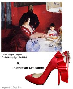 Painting by John Singer Sargent, shoes by Christian Louboutin