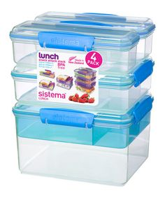 Look what I found on #zulily! Blue Snack Attack Stacking Container Set by Sistema #zulilyfinds
