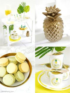 Such an incredible pineapple summer party! See more party planning ideas at CatchMyParty.com!