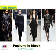 Peplum In Black #Fashion Trend for Fall Winter 2014 #Fall2014 #Fall2014Trends #FashionTrends2014