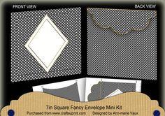 Black Dotty Diamond 7x7inch Easy Envelope Mini Kit on Craftsuprint - Add To Basket!