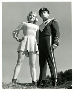 "... Crane and Sally Mansfield in ""Rocky Jones, Space Ranger"" (1954"