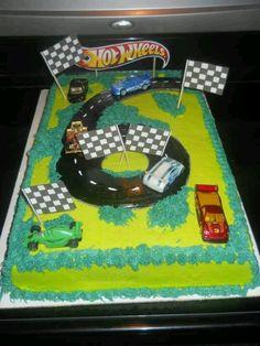 Hot wheels b day cake