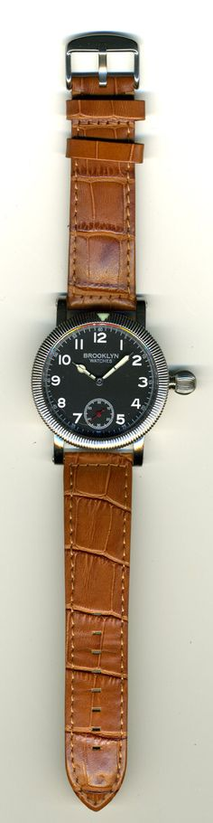 The Bennett Field Watch, by Brooklyn Watches. Never heard of the brand, but that's a cool watch.