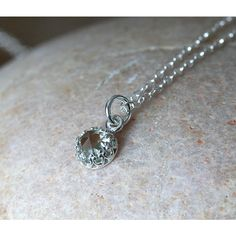 New Green Quartz Rose Cut Crown Pendant Necklace Sterling Silver,... ($24) ❤ liked on Polyvore featuring jewelry, pendants, sterling silver crown, sterling silver birthstone jewelry, stone jewellery, pendant necklace and crown pendant necklace