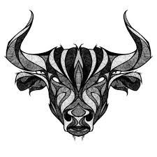 Bildergebnis für geometrical bull tattoo