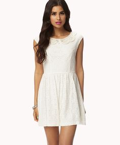 Floral Lace & Crochet Dress - forever 21 $27.80