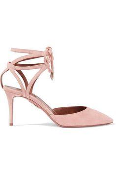 AQUAZZURA Uma lace-up suede pumps. #aquazzura #shoes #pumps