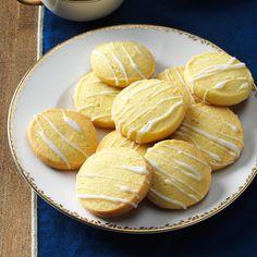 Lemon Slice Sugar Cookies Recipe -Here's a refreshing variation of my grandmother's sugar cookie recipe. Lemon pudding mix and icing add a subtle tartness that tingles your taste buds. —Melissa Turkington, Camano Island, WA
