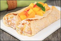 Hungry Girl's Tropical Fruit Crepes