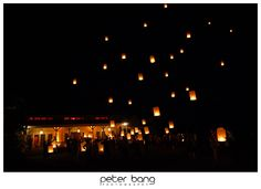 I want our send-off to be with floating wish lanterns! <3