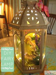 DIY Fairy Lantern Lamp Tutorial : After I made a LEGO themed lamp for my son a few weeks ago my daughter felt left out, and she asked me if I could make her a lamp too. Her room is completely decked out in Disney Fairies at the moment (right down the Tinkerbell themed television). After thinking on it for a few days, I came across a lantern display at A.C. Moore ....