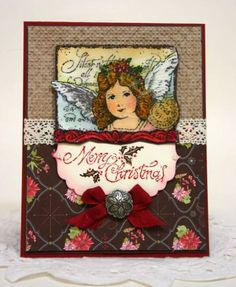 Stampin' Up! Yuletide Montage cracked glass