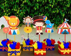 Carnival Circus Birthday Centerpieces Circus Carnival Baby Shower Guests Circus Carnival Party Decor Centerpieces birthday PRICE PER PIECE