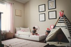 Oh Happy Play: Montessori Style Floor Bed/ Bedroom