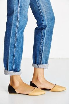 Jeffrey Campbell in Love Leather D'Orsay Flat from Urban Outfitters