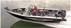 Image result for aluminum skiff converted to ski boat