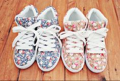 Floral+hightops= Perfect combo!!
