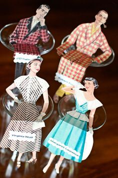 vintage paper doll placecards