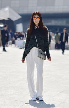 Street style: Park So Min shot by Baek Seung Won at Seoul Fashion Week Fall 2015
