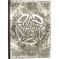 PENTACLE WHITE METAL DIARY JOURNAL Wicca Witch Pagan Goth PENTAGRAM K