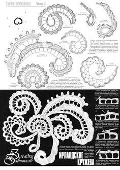 Paisley crochet motifs