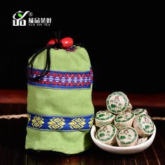 Quality lotus leaf tea cooked ancident trees PU er cooked tea mini tuo tea 50 bags $12.00