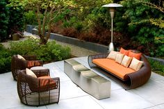 Very groovy outdoor furniture