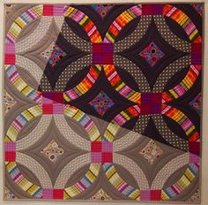 Double Wedding Ring, by Meg Cowey, NYC Metro MOD Quilters, 2013