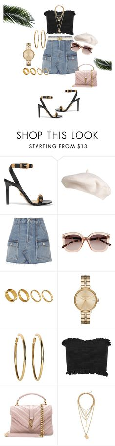 """HOW TO DRESS IN NYFW???"" by emeraudevit ❤ liked on Polyvore featuring Versace, RE/DONE, Witchery, Made, Michael Kors, Kenneth Jay Lane, Miss Selfridge, Yves Saint Laurent, Rebecca Minkoff and Gucci"