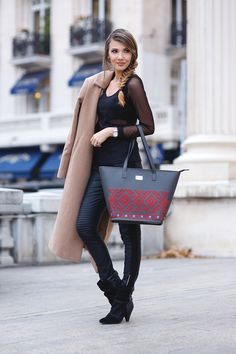 the mysterious girl, themysteriousgirl, larisa costea, larisacostea, fashion blog, fashion blogger, iutta, romania, bucharest, atheneum, traditional, dor de banat, bag, folclore, allblack, outfit, ootd, look, look of the day, lotd, outfit inspiration, little mistress, leggings, camel coat, shein, missguided, jessica buurman, low boots, aknkle boots, black and sheer blouse, romwe