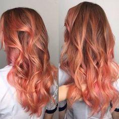 Inspiration Blorange Hair Color from Blood Oranges Black To Blonde Hair, Gold Blonde, Bleach London, Peach Hair Colors, Pink Hair, Blorange Hair, Dyed Hair Ombre, Hair Photo, Hair Inspiration