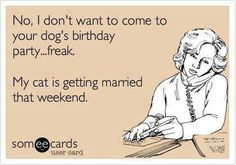 No I dont want to come to your dogs birthday - http://jokideo.com/no-i-dont-want-to-come-to-your-dogs-birthday/