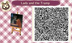 Lady and the Tramp Animal Crossing:New Leaf QR code