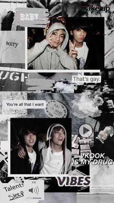 #Taekook #Aesthetic #Vkook Foto Bts, Bts Photo, Taekook, Taehyung 2016, Kpop Backgrounds, Bts Quotes, Aesthetic Collage, Bts Lockscreen, Bts Boys