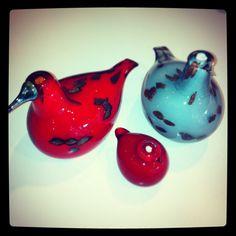 Birds by Toikka: Jouliana, red puffball and Hiplu