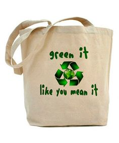 Forget garbage and get green with this environmentally minded reusable tote. Durable canvas construction allows groceries and goodies to be bagged again and again, preventing plastic waste.