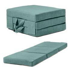 Fold Out Guest Mattress Foam Bed Single & Double Sizes Futon Z bed Folding Sofa - Arbeitszimmer Murphy Bed Ikea, Murphy Bed Plans, Sofa Cama Individual, Fold Out Beds, Folding Sofa, Folding Bed Mattress, Comfort Mattress, Chair Bed, Futon Bed