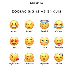 If Zodiac signs were Emojis. Zodiac Signs Pisces, Sagittarius And Capricorn, Gemini And Cancer, Zodiac Star Signs, Zodiac Sign Facts, My Zodiac Sign, Astrology Zodiac, Astrology Signs, Gemini Quotes
