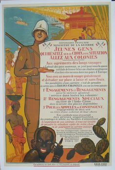 Affiche coloniale - Recrutement